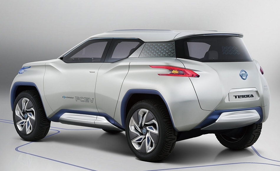 2012 Nissan TeRRa Concept Rear 3-4 Left