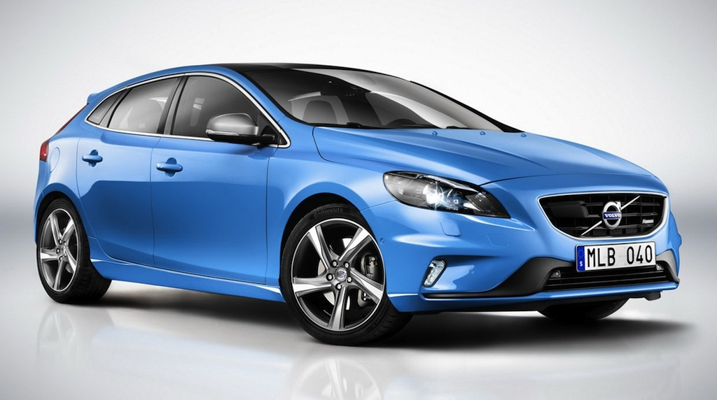 2013 Volvo V40 R-Design Front 7/8 View Studio Shot