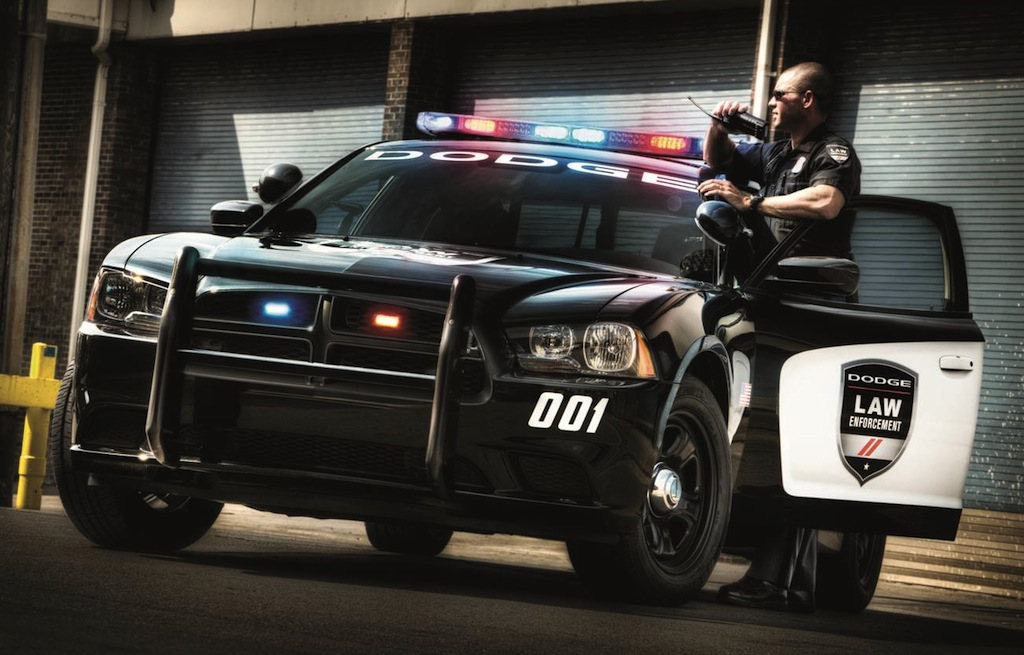 2014 Dodge Charger Pursuit Front 3/4 with Cop