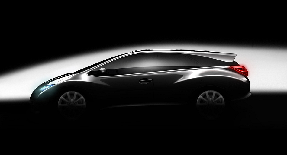 Honda Civic Wagon Teaser 2012 Paris Auto Show