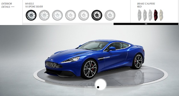 Build your own 2013 Aston Martin Vanquish