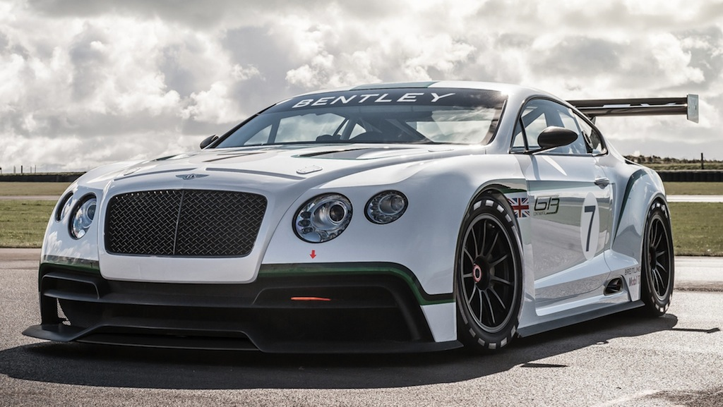 Bentley Continental GT Race Car Concept Front 3/4 View