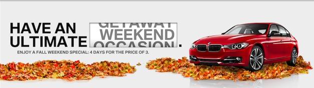 BMW 3 Series Long Weekend Get Away