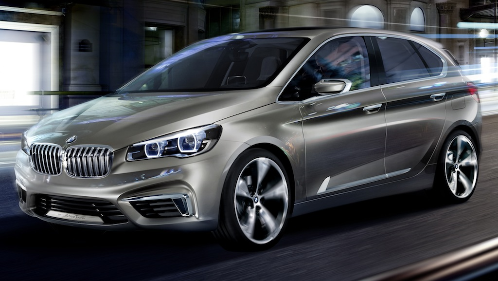 BMW Concept Active Tourer Front 3/4 Profile Angle