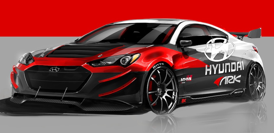 Hyundai ARK Genesis Coupe R-Spec Track Edition Sketch 1