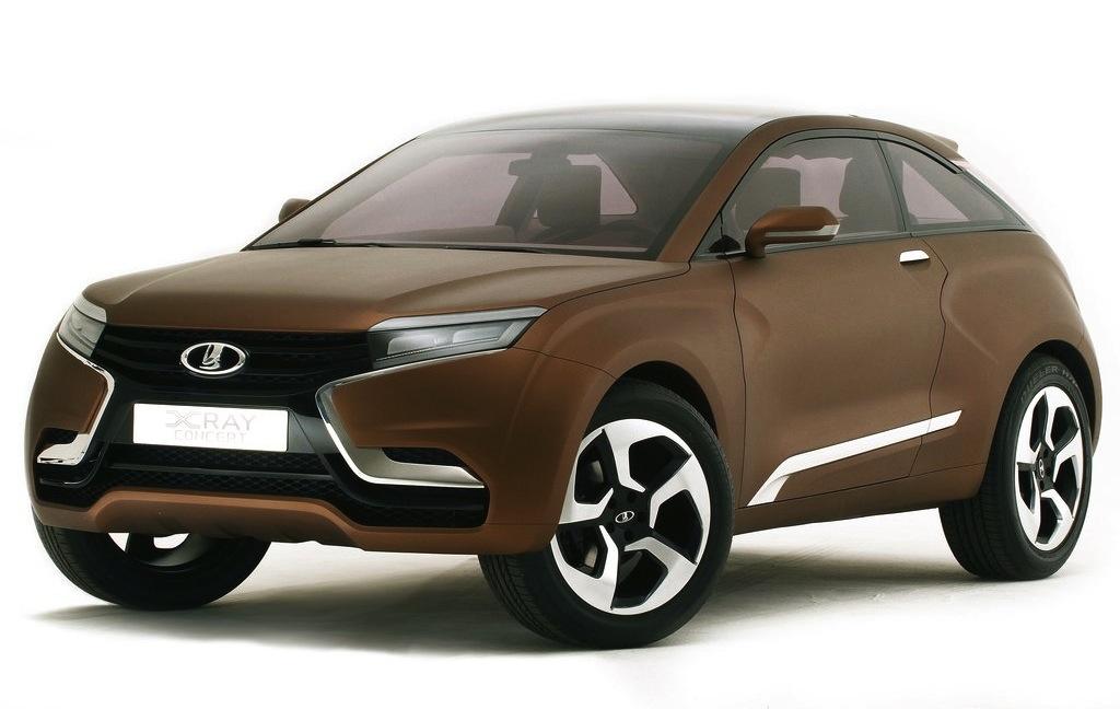 Lada Xray Concept Front 3/4 Studio Shot