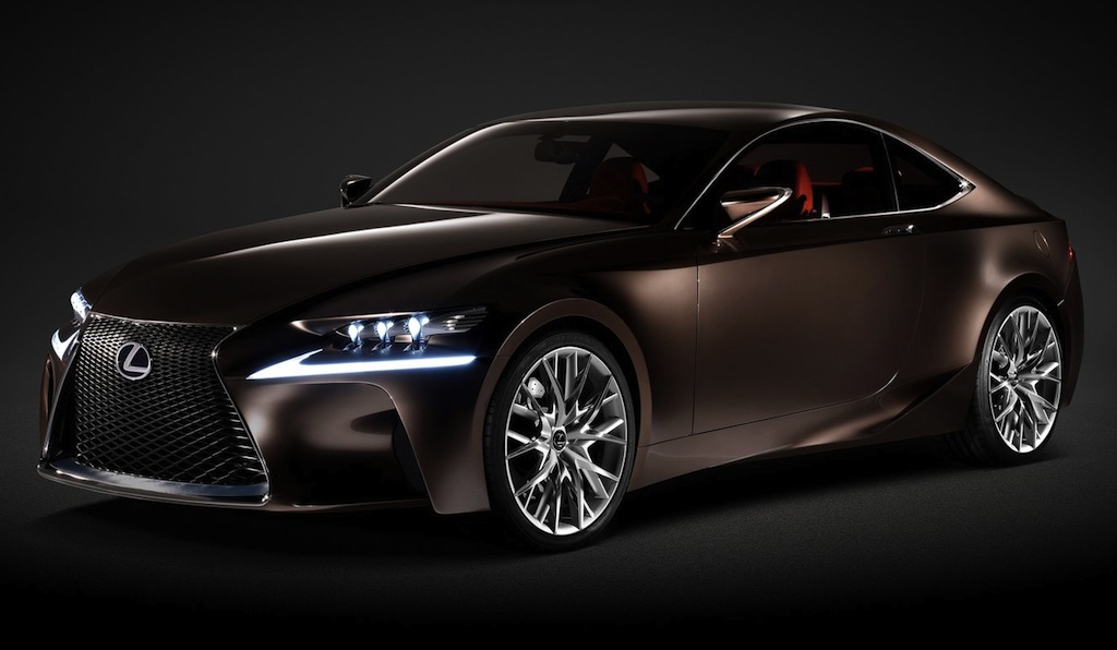 Lexus LF-CC Concept Dark Front Quarter Angle