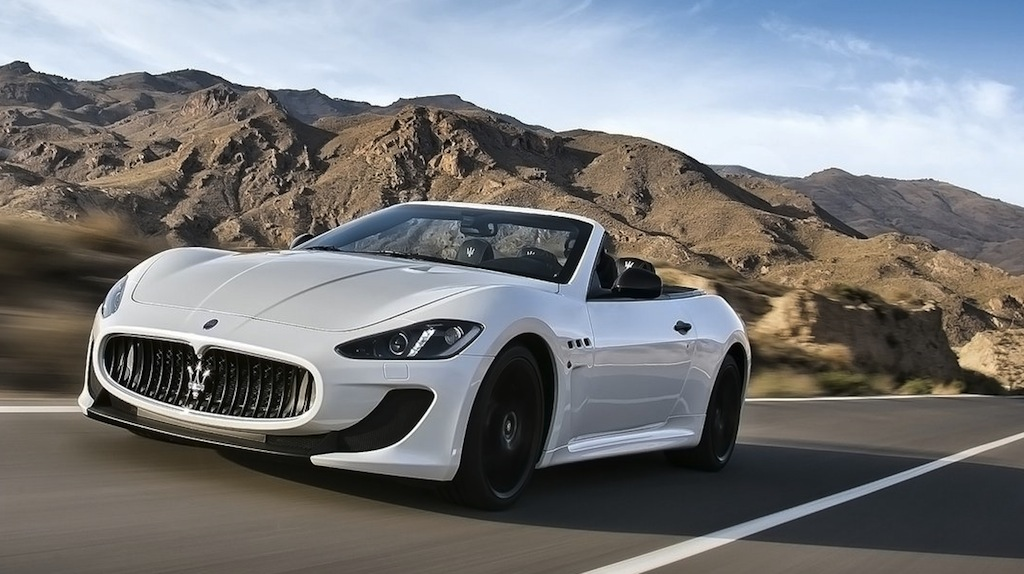 2013 Maserati GranCabrio MC Front 3/4 Action View