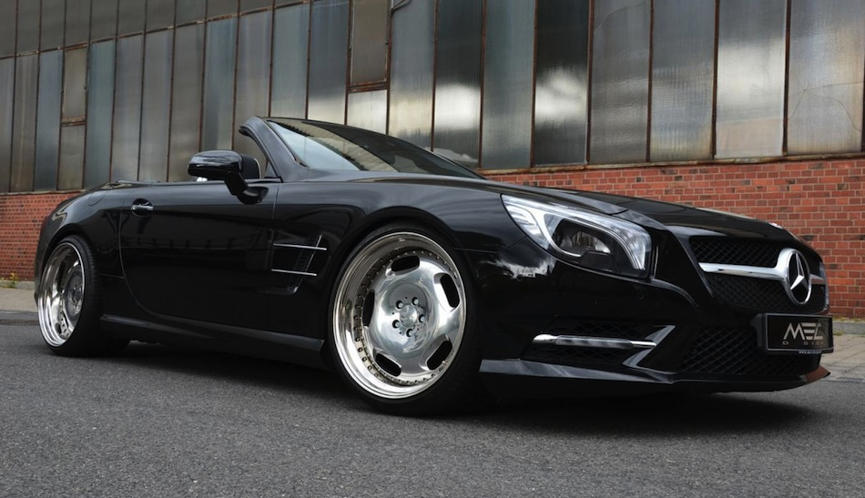 MEC Design 2013 Mercedes-Benz SL550 Front 7/8 View Angle
