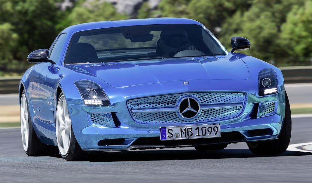 Mercedes-Benz SLS AMG Coupe Electric Drive Front 3/4 View