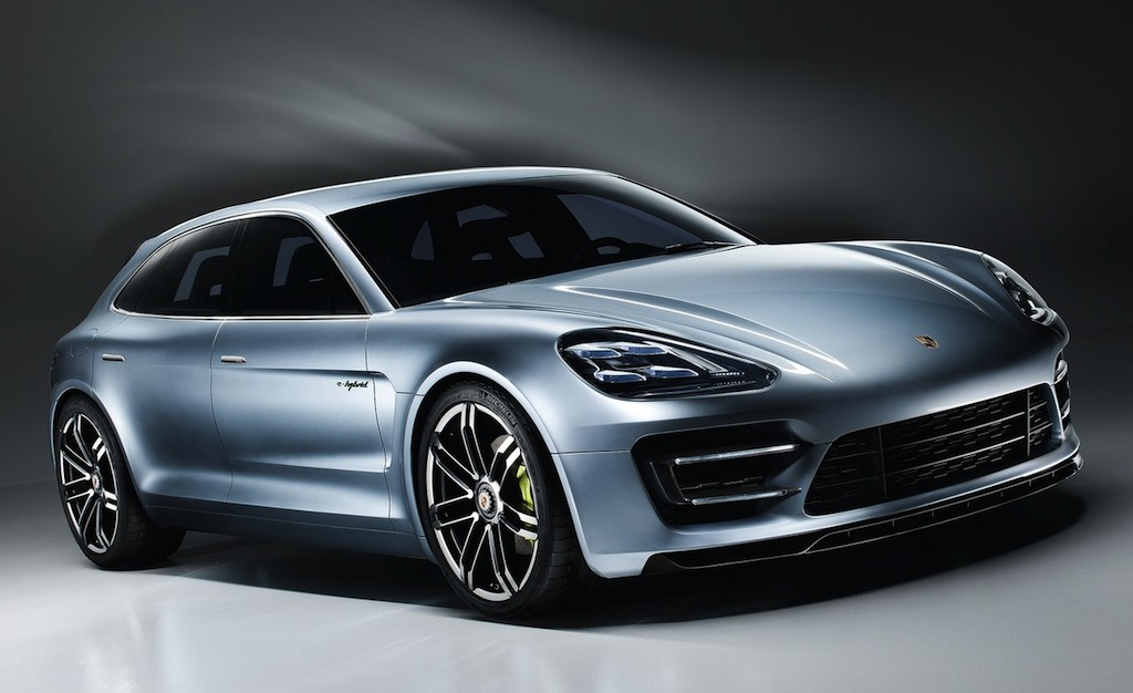 Porsche Panamera Sport Turismo Concept Front 3/4 Angle View