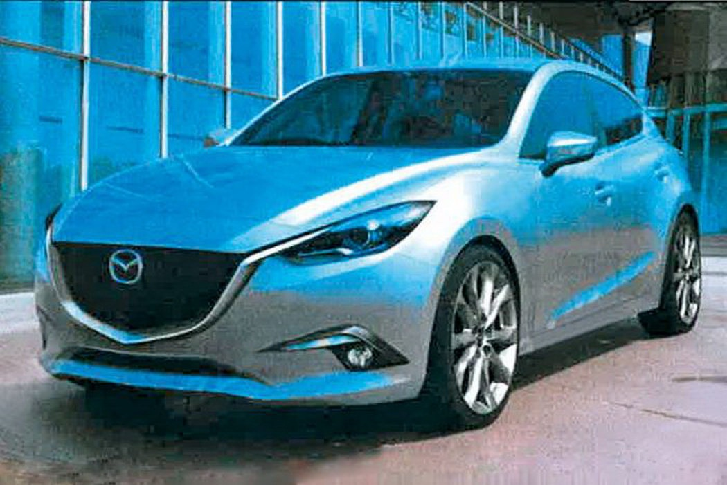 2014 Mazda3 Leaked Images Front 3/4 Hatchback