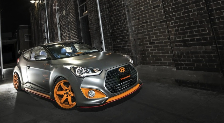 Hyundai Veloster Street Concept Front 3/4 View