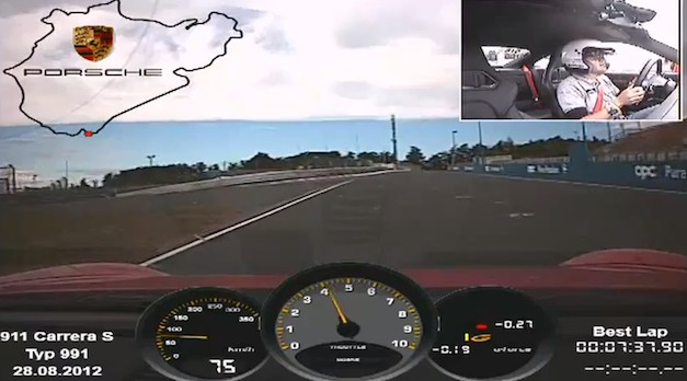 Porsche 911 Carrera S runs a 7:37.9 lap time on the Nurburgring