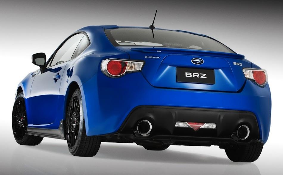 Subaru BRZ Concept STI Rear 3/4 View