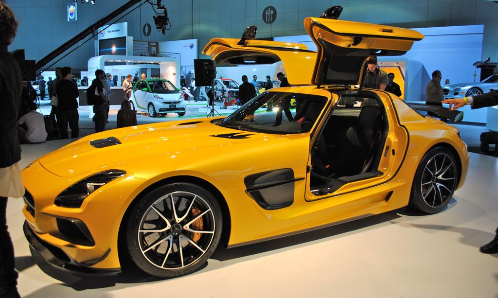 2012 LA: 2014 Mercedes-Benz SLS AMG Black Series Side Front