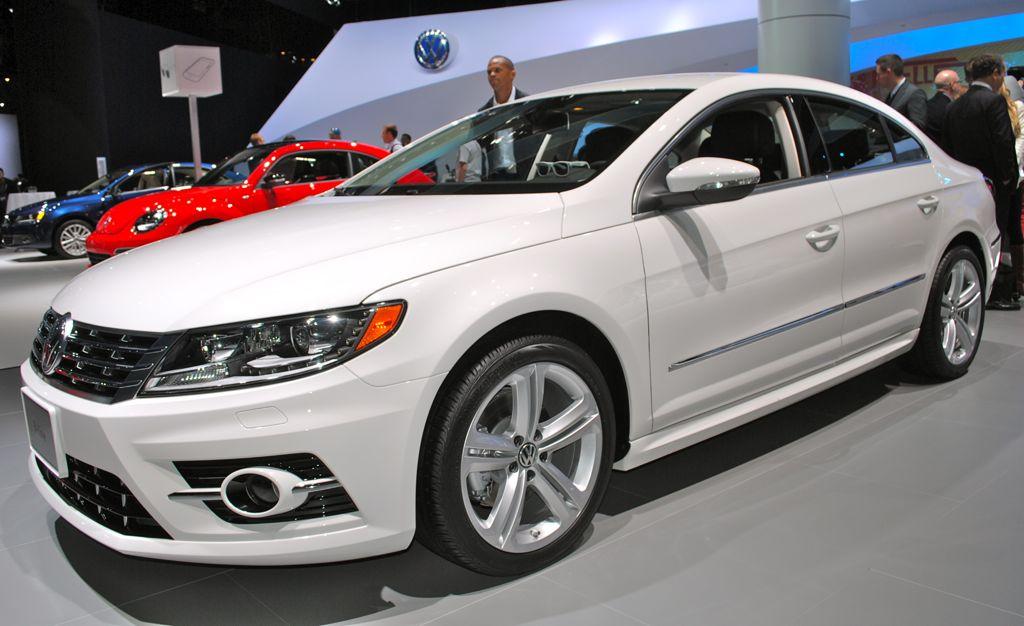 2012 LA: 2013 Volkswagen CC R-Line Front 7/8 View