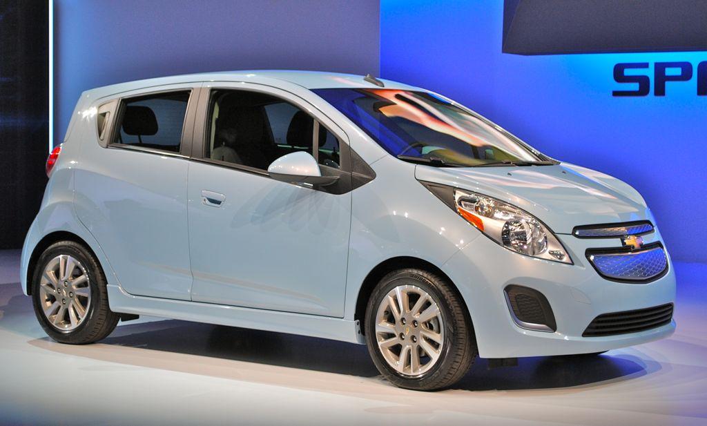 2012 LA: 2014 Chevrolet Spark EV Front 7/8 View
