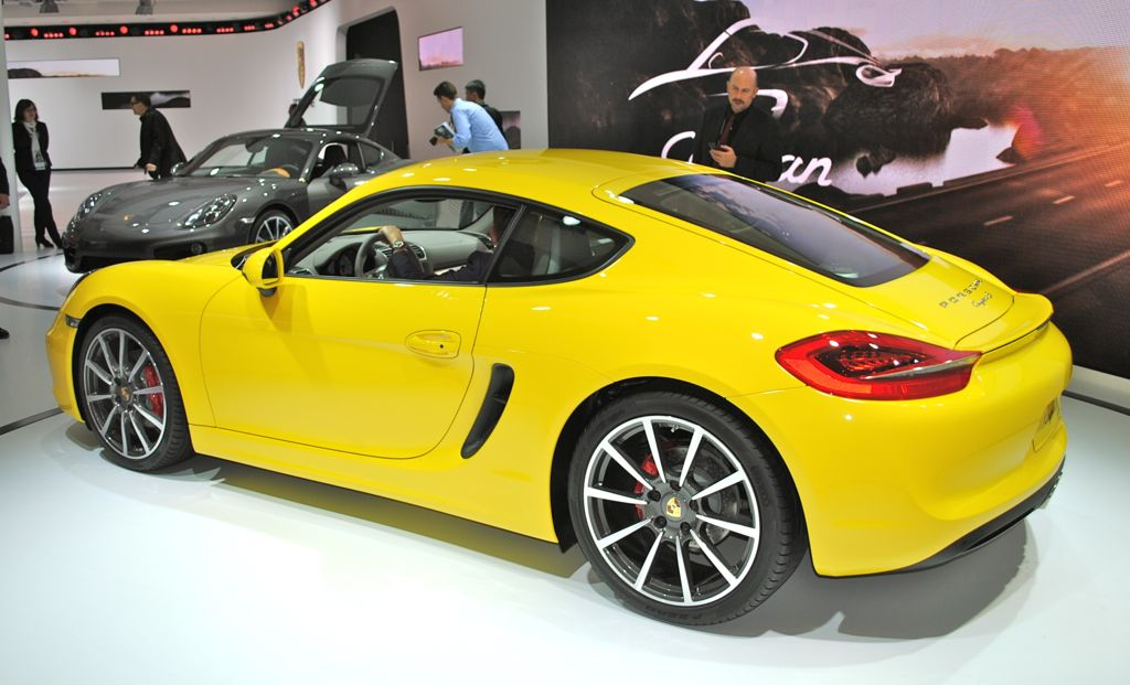 2012 LA: 2014 Porsche Cayman Rear 7/8 View