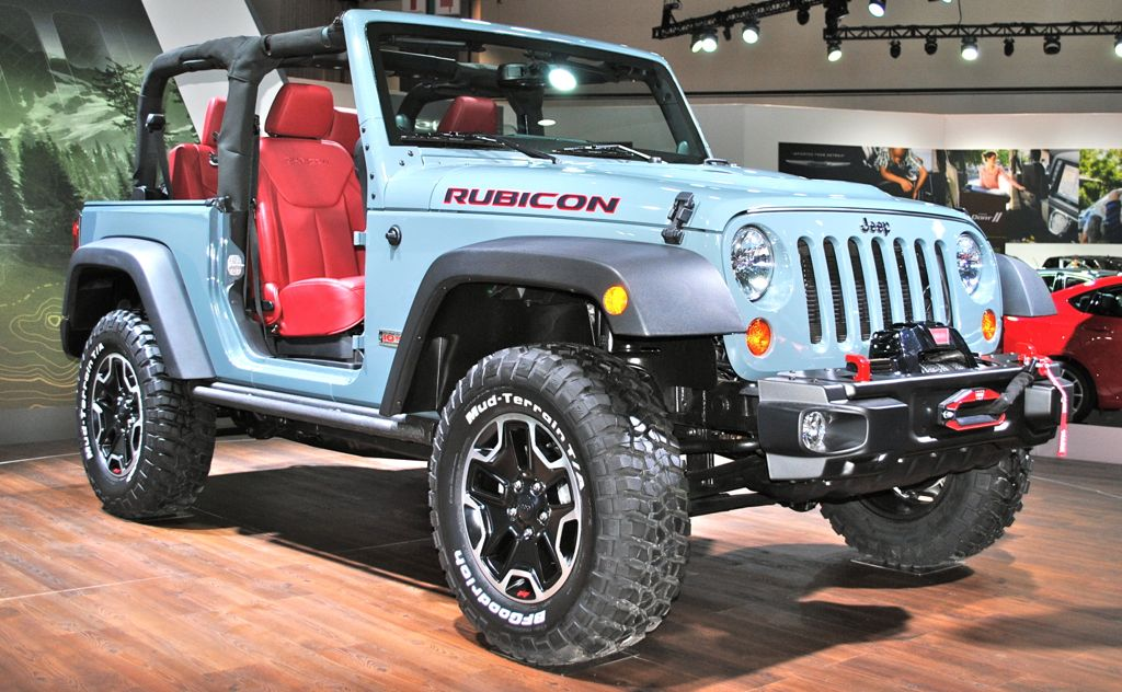 2012 LA: Jeep Wrangler Rubicon 10th Anniversary Front 3/4 View