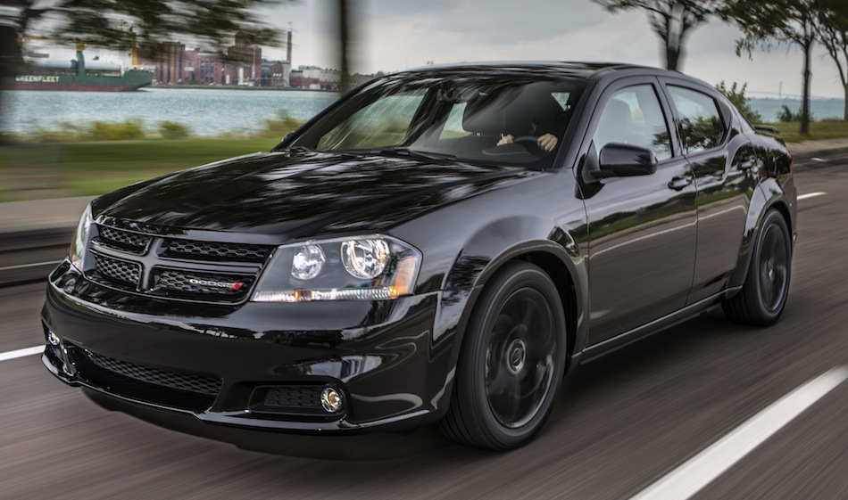 2013 Dodge Avenger Blacktop Edition Front 3/4 Action View