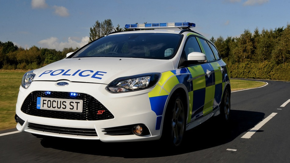 Ford Focus ST Police Car Front 3/4 Action View