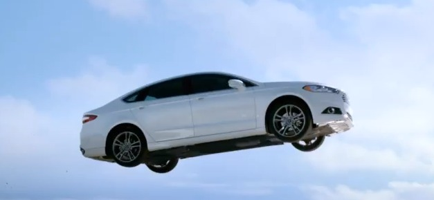 2013 Ford Fusion jumps