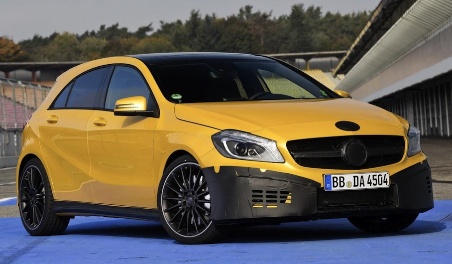 Mercedes-Benz A45 AMG Prototype Front 3/4 View