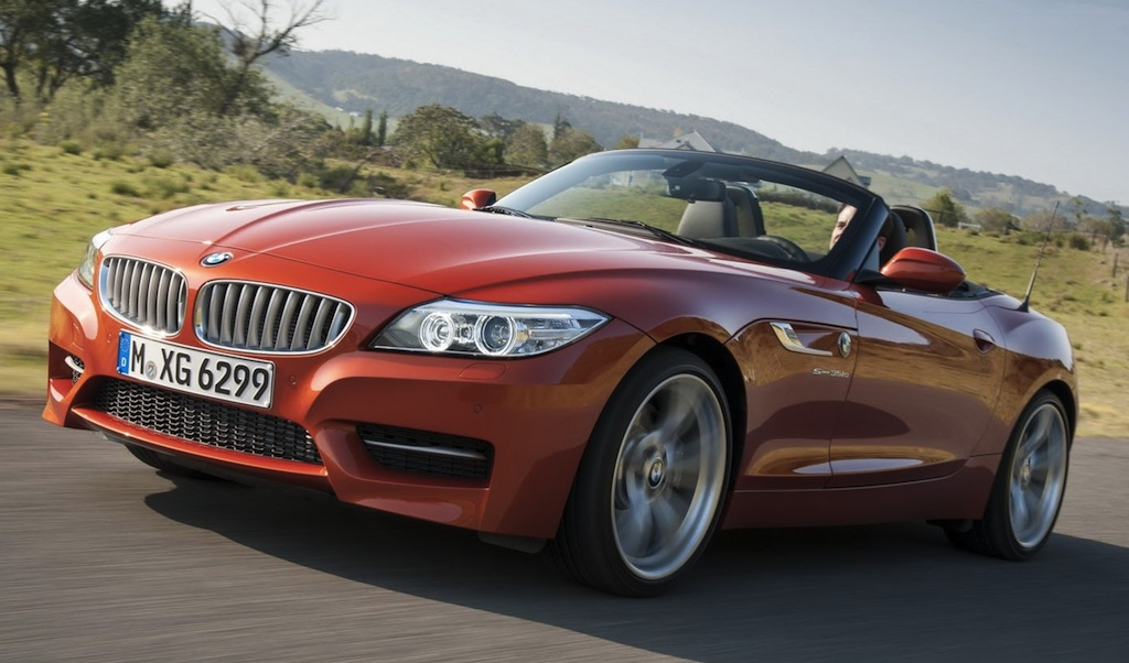 2014 BMW Z4 Front 7/8 Action Angle
