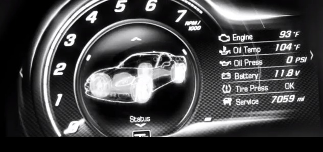 2014 Chevrolet Corvette digital gauge cluster