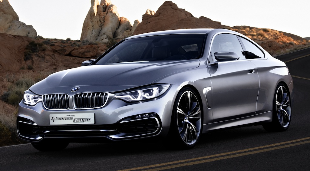 BMW 4 Series Coupe Concept Front Quarter View