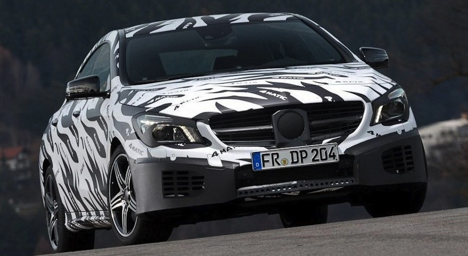 Spy Shot - Mercedes-Benz CLA Front Action Shot