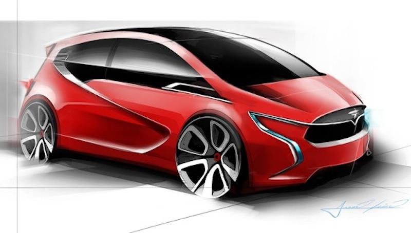 Tesla Motors Compact EV Rendering 1