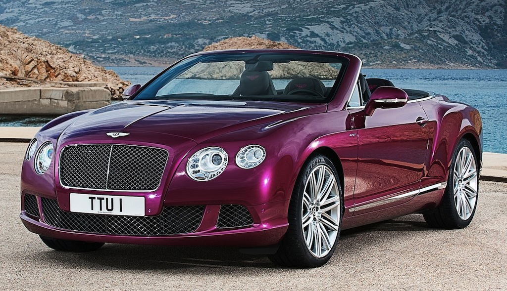 2014 Bentley Continental GT Speed Convertible Front 3/4 Angle View