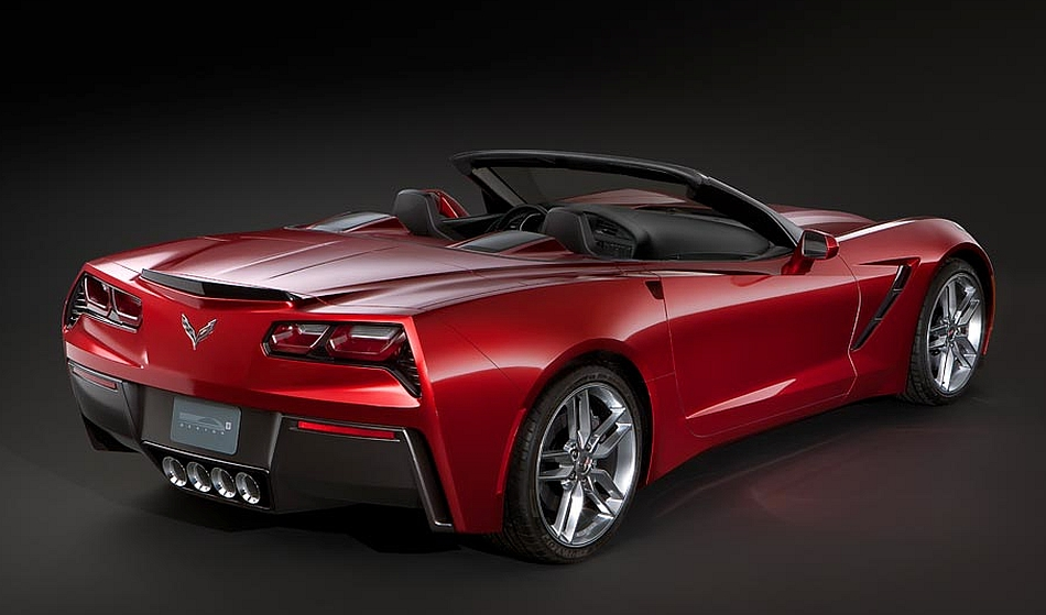 2014 Chevrolet Corvette C7 Convertible Leak Rear