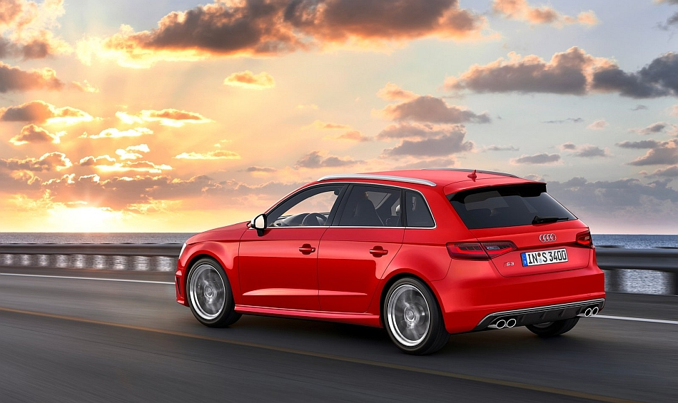2014 Audi S3 Sportback Rear 7-8 Left Cruising