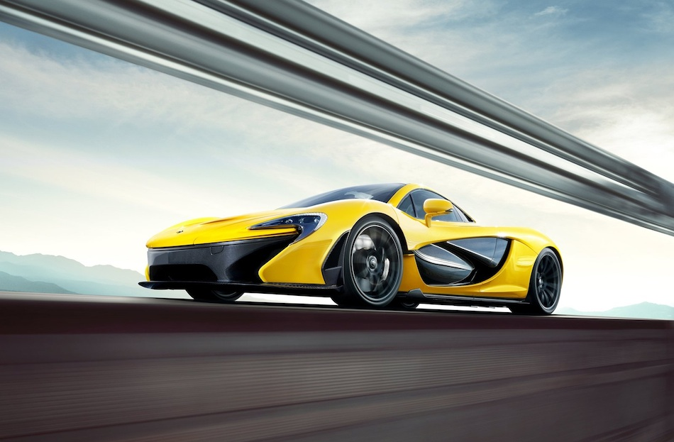 2014 McLaren P1 Cruising Front Left 7-8 Low Angle