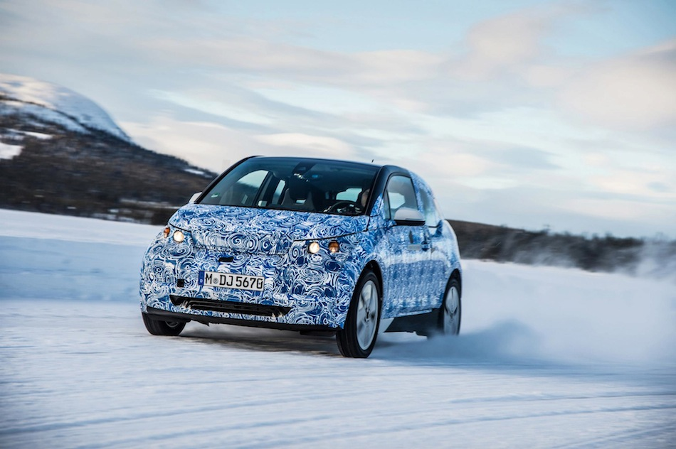 BMW i3 Winter Testing Official