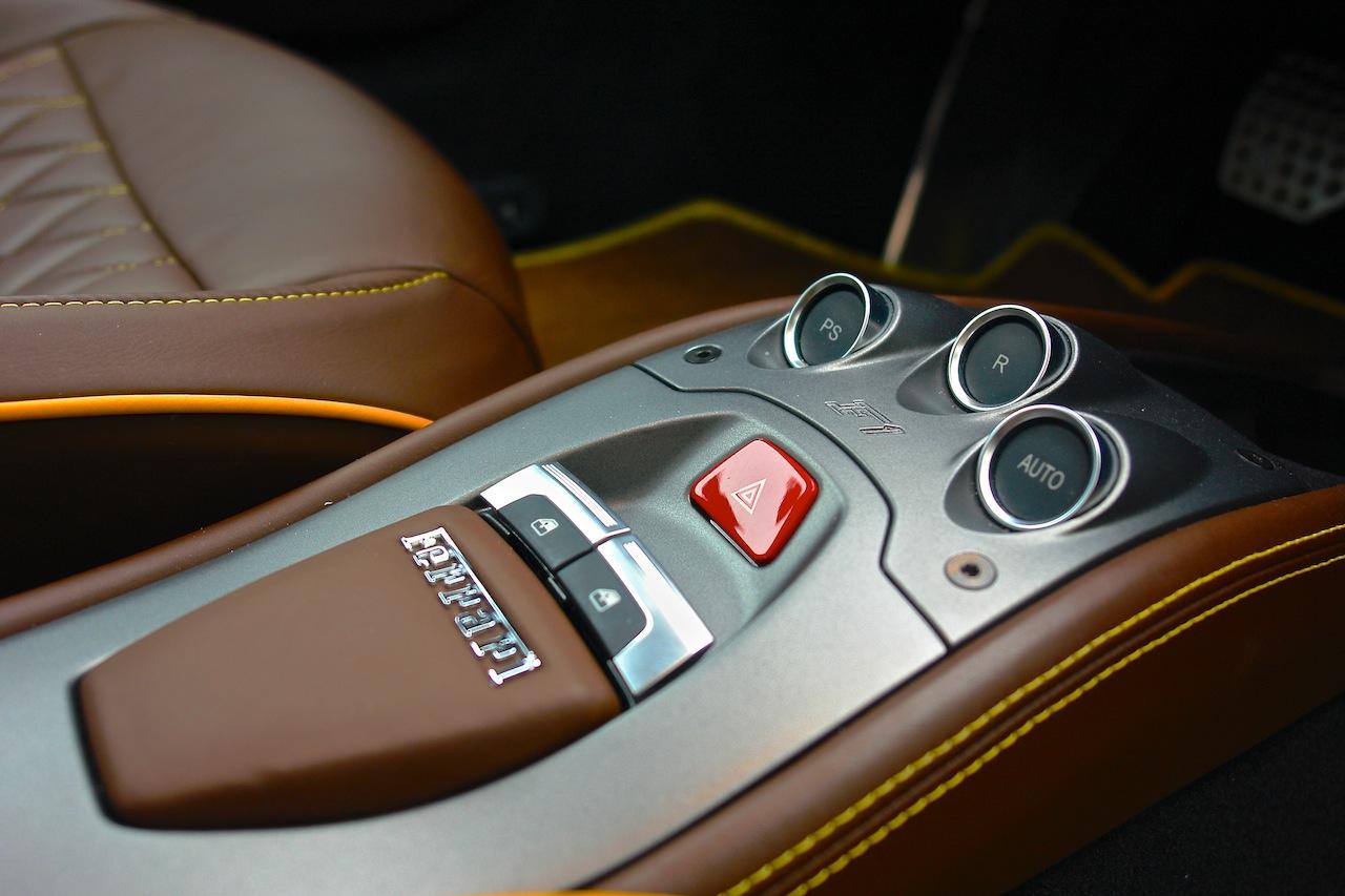 2010 Ferrari 458 Review Center Console F1 Buttons