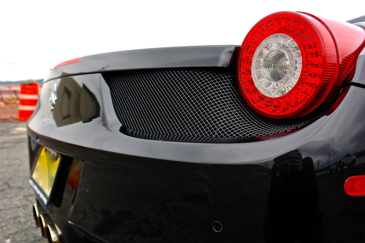 2010 Ferrari 458 Review Taillight Detail