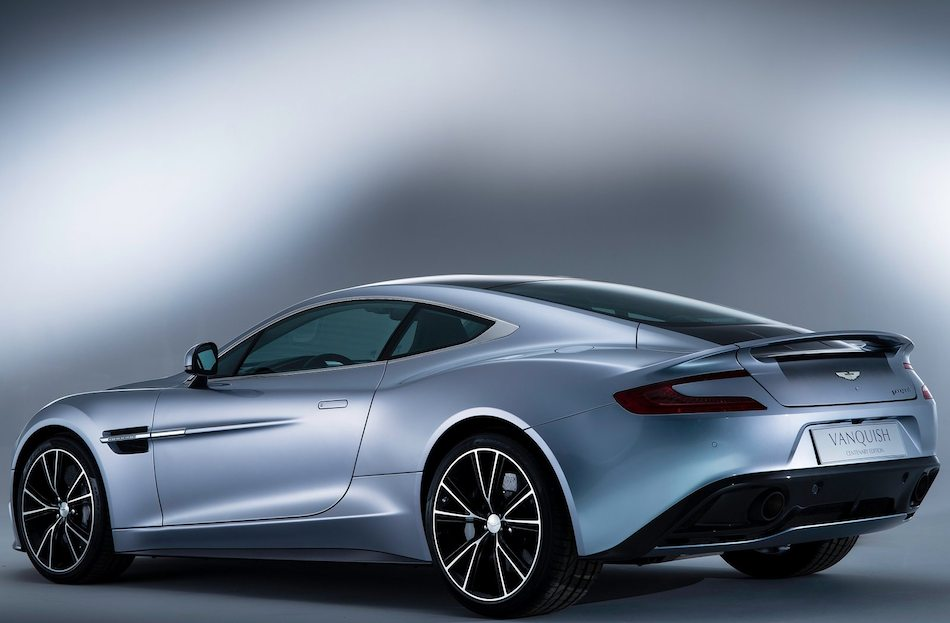 2013 Aston Martin Vanquish Centenary Edition Rear 7-8 Left