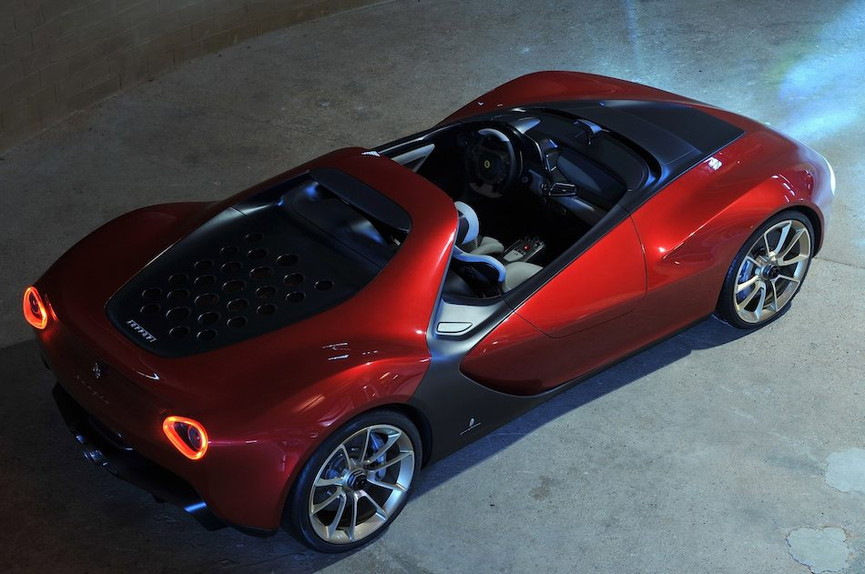 2013 Ferrari Sergio Concept Rear 7-8 Right High Angle