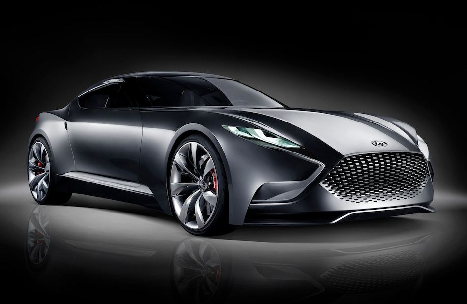 2013 Hyundai HND-9 Sports Coupe Concept Front 7-8 Right