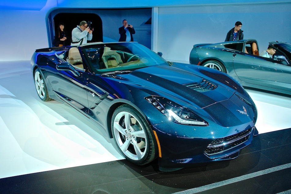 2014 Chevrolet Corvette Stingray Convertible NYIAS Front 7-8 Right