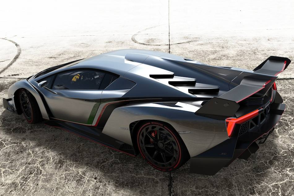2014 Lamborghini Veneno Rear 3-4 Left
