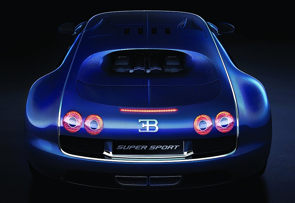 2012 Bugatti Veyron Super Sport Rear Studio