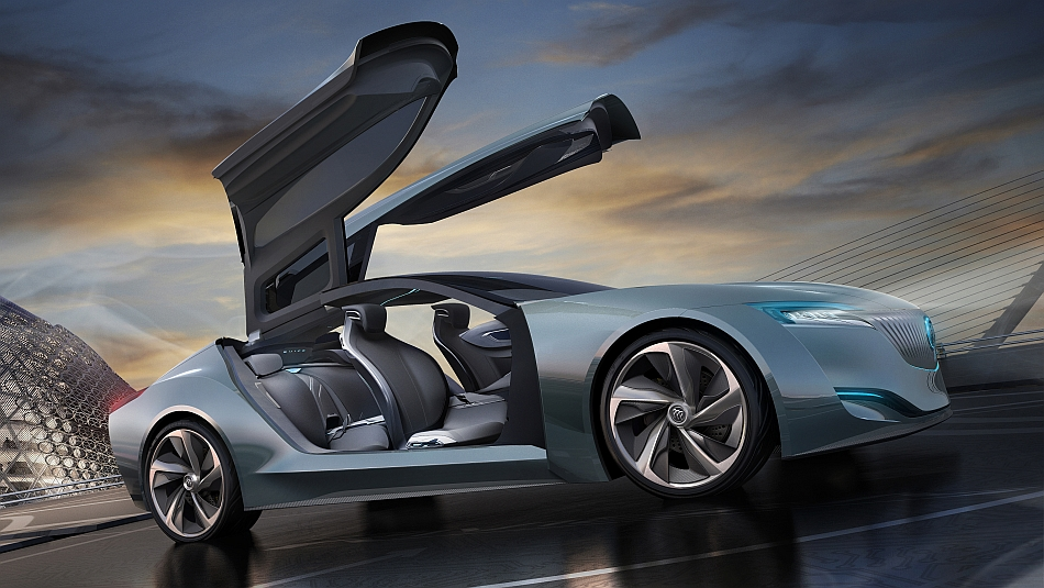 2013 Buick Riviera Concept Front 7-8 Right Doors Ajar