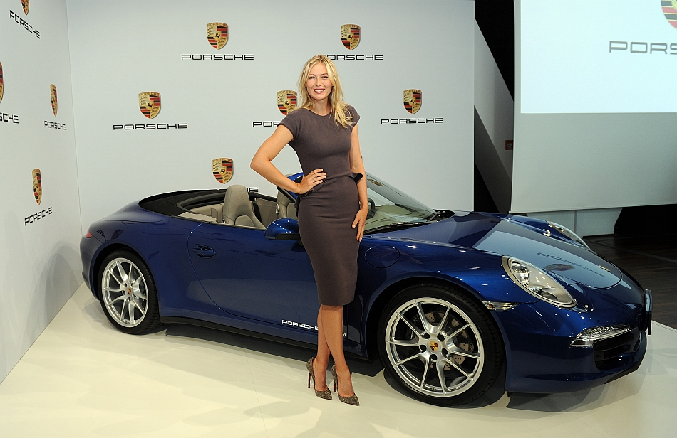 2013 Porsche AG Hires Russian Tennis Superstar Maria Sharapova As Brand Ambassador