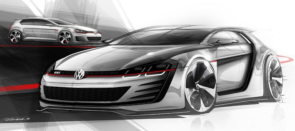 2013 Volkswagen Design Vision GTI Rendering