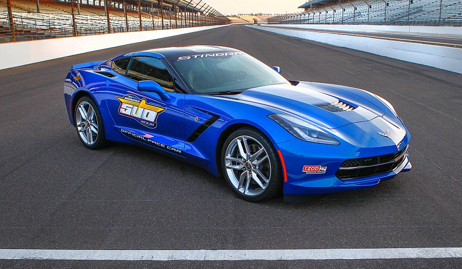 2014 Chevrolet Corvette Stingray Indianapolis 500 Pace Car Front 7-8 Right